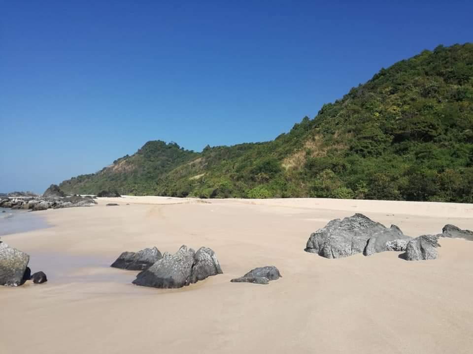 La magnifique plage deNgapali